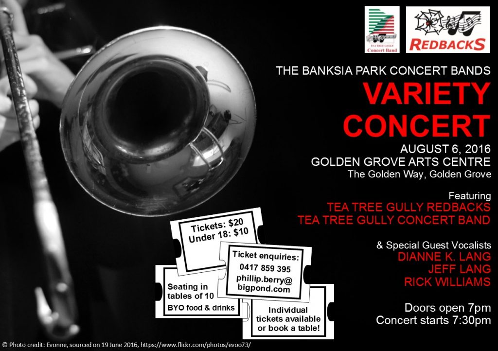 Details for our upcoming concert